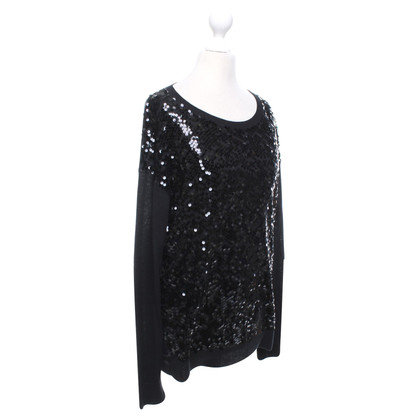 DKNY Sequined sweater in black