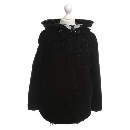 Armani Collezioni velluto giacca trapuntata