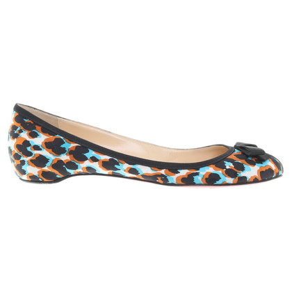 Christian Louboutin Ballerinas with colorful print