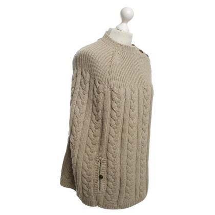 Louis Vuitton Poncho met kabel breipatroon