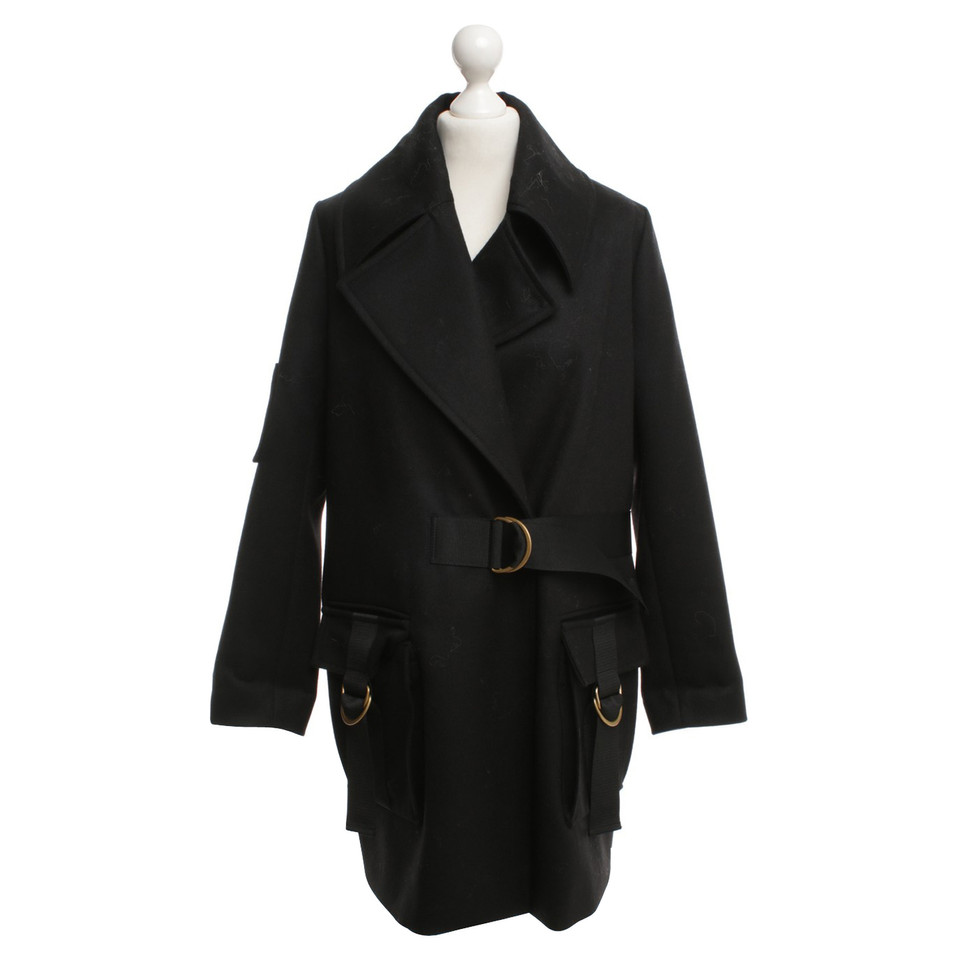 lala berlin oversize mantel in schwarz second hand lala. Black Bedroom Furniture Sets. Home Design Ideas