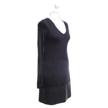 Velvet Vestito nero con inserti in PU