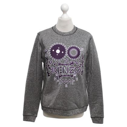Kenzo Silver-colored sweatshirt
