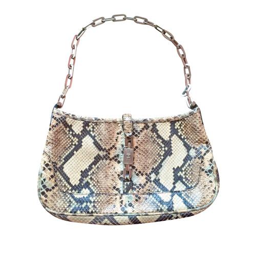 Gucci BORSA BAGUETTE JACKIE IN PITONE - Second hand Gucci BORSA ... 4c3e6d174213