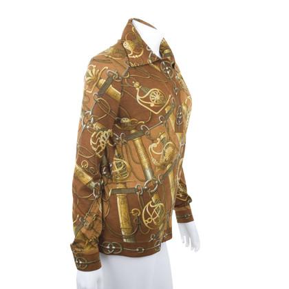 Hermès jersey blouse