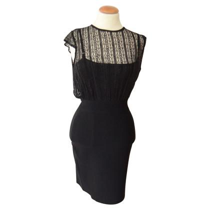 Gucci black evening dress stretch