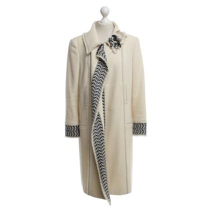 Chanel Coat in cream white