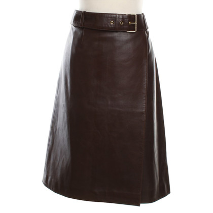 Céline Leather skirt in brown