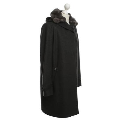 Sport Max cappotto di lana in grigio