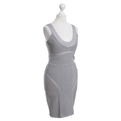 Herve Leger Bodycon dress in silver