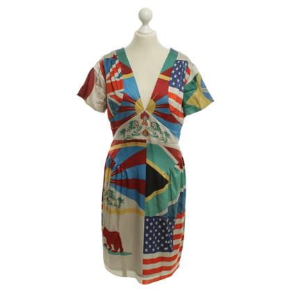 Wunderkind Dress with flag print