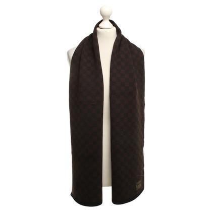 Louis Vuitton Sciarpa di lana in Marrone / Nero