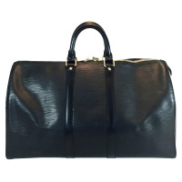 "Louis Vuitton ""Keepall 45 Epi Leather"" in black"
