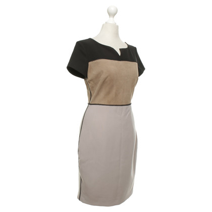 Halston Heritage Dress with leather insert