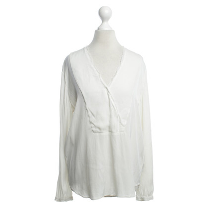 Repeat Cashmere Bluse in Creme