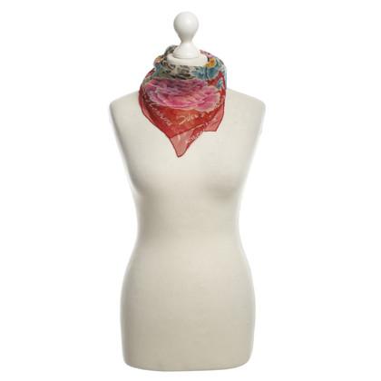 Dolce & Gabbana Sciarpa di seta con stampa animalier