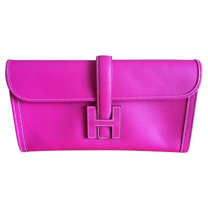 """Hermès """"Jige Clutch"""" in Pink"""