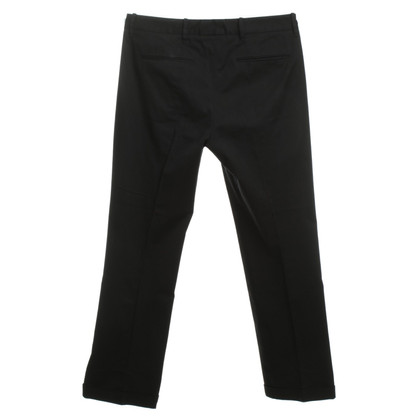 Jil Sander Cotton Trousers in black