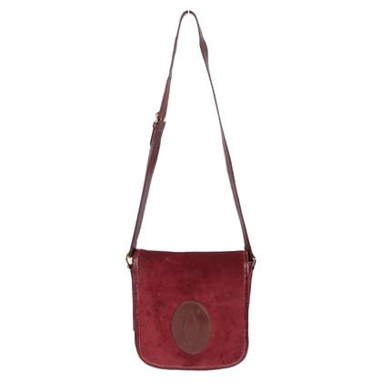 Cartier Cartier leather suede shoulder bag