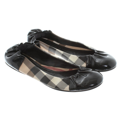 Burberry Ballerinas aus Materialmix