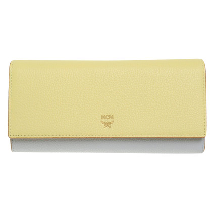 "MCM ""Milla 3-fold wallet"" in yellow / grey"