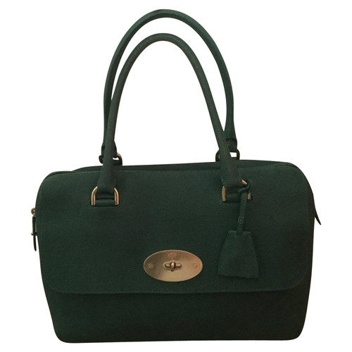 2328263a464d Mulberry Handbag Leather in Green - Second Hand Mulberry Handbag ...