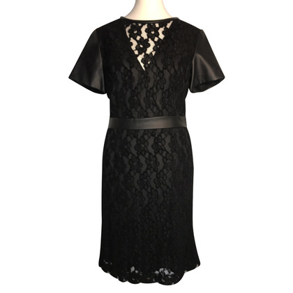 Armani Jeans Lace dress with leather details