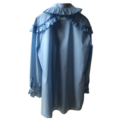 Gucci Blaue Bluse