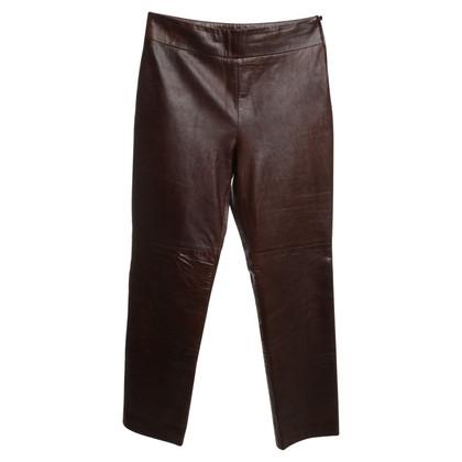 Marc Cain Leren broek in bruin