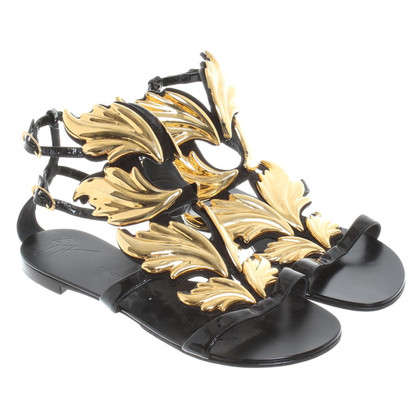 Giuseppe Zanotti Sandals with gold applications