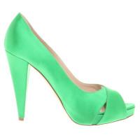 Bally Peeptoes in neon green