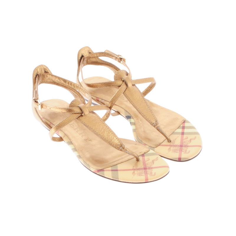 burberry goldfarbene sandalette second hand burberry goldfarbene sandalette gebraucht kaufen. Black Bedroom Furniture Sets. Home Design Ideas