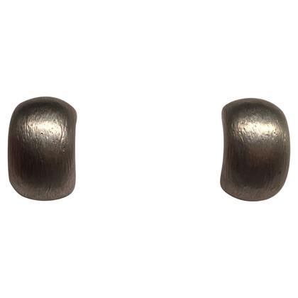 Christian Dior Zilverkleurige oorclips