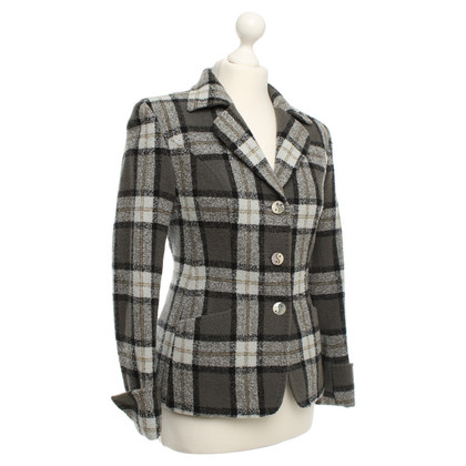 Moschino Check Wool Blazer