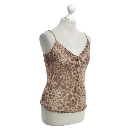 Max & Co Silk top with leopard pattern