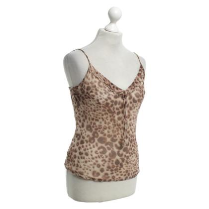 Max & Co Top in seta con motivo leopardo