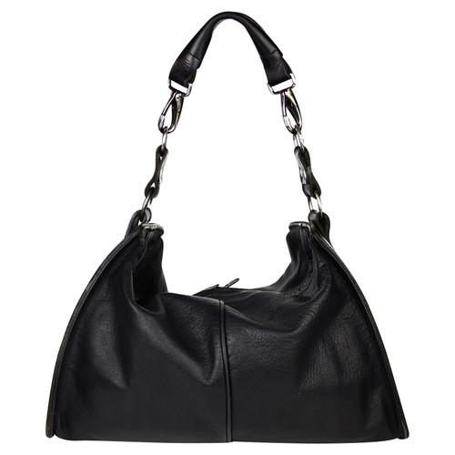 Yohji Yamamoto Tote bag Leather in Black - Second Hand Yohji ... 29a1d2f00725c