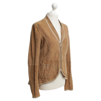 Armani Wild leather jacket in brown