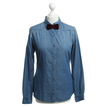 Maison Scotch Jean blouse en bleu