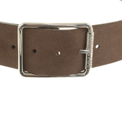 Patrizia Pepe Leather riem in Taupe