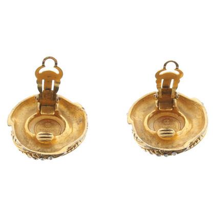 Chanel Clip oorbellen met edelstenen