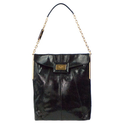 "Roger Vivier ""Mikado Flat Bag"" made of Python leather"