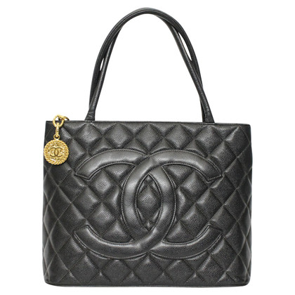 "Chanel ""Medallion Tote"" gemaakt van caviar leer"