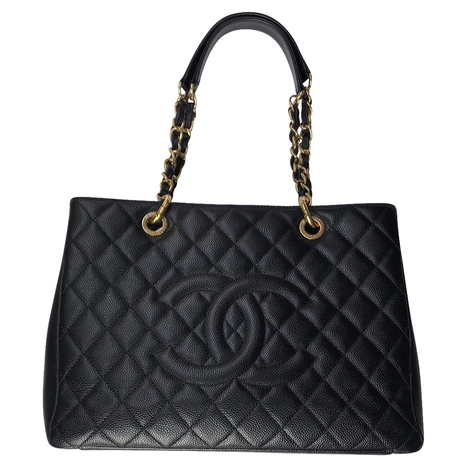 chanel grand shopping tote made of caviar leather buy second hand chanel grand shopping. Black Bedroom Furniture Sets. Home Design Ideas