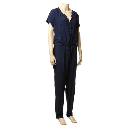Velvet Jumpsuit in blauw