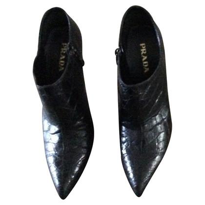 Prada Python leather boots