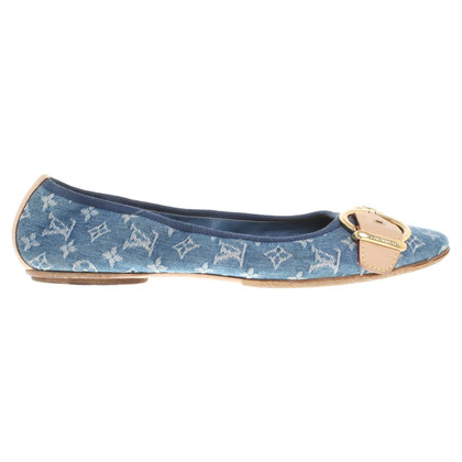 Louis Vuitton Ballerina's in Monogram Denim