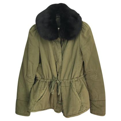 Isabel Marant Etoile Manteau d'hiver avec garniture de fourrure