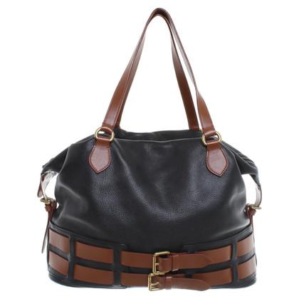 Etro Leather handbag in Black / Brown