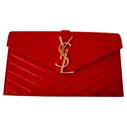 Yves Saint Laurent Yves saint laurent clutch red
